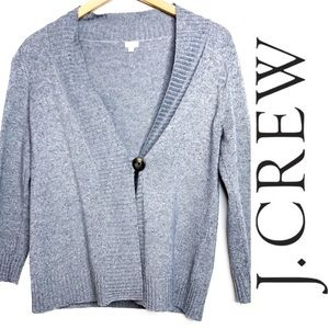 J. Crew Cashmere and Wool Single Button Cardigan